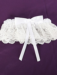 cheap -Lace Satin Wedding Garter with Bowknot Garters Wedding Special Occasion