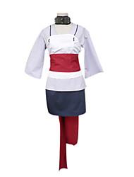 abordables -Inspirado por Naruto Temari Animé Disfraces de cosplay Trajes Cosplay Kimono Retazos Manga Larga Chalecos Top Falda Cuello Cinturón Para
