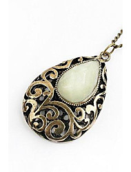 Women's Pendant Necklaces Alloy Flower Drop Carved Gold Jewelry