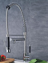 cheap -Kitchen faucet - Contemporary Chrome Pull-out / Pull-down Deck Mounted