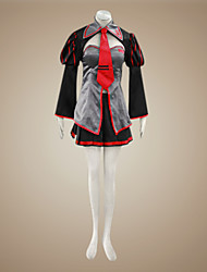 cheap -Inspired by Vocaloid Zatsune Miku Video Game Cosplay Costumes Cosplay Suits / Dresses Patchwork Black / Red Long SleeveCoat / Skirt /
