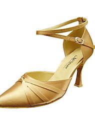 Women's Dance Shoes Modern/Ballroom Satin Stiletto Heel Black/Red/Gold