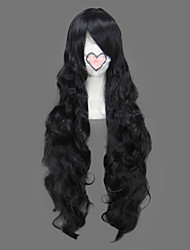 Cosplay Wigs One Piece Alvida Black Long Anime Cosplay Wigs 90 CM Heat Resistant Fiber Female