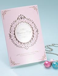 preiswerte -Royal Style tri-fach Hochzeitseinladung in pink-Satz von 50/20