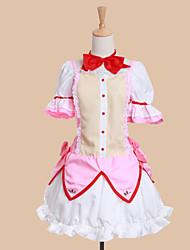 Ispirato da Puella Magi Madoka Magica Madoka Kaname Anime Costumi Cosplay Abiti Cosplay Abiti Collage Manica corta Abito Arco Per Donna