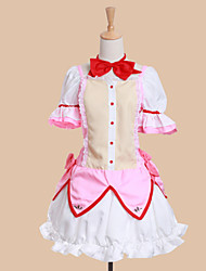 preiswerte -Inspiriert von Mahou Shoujo Madoka Magica Madoka Kaname Anime Cosplay Kostüme Cosplay Kostüme Kleider Patchwork Kurzarm Kleid Schleife Für