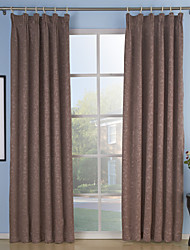 cheap -Rod Pocket Grommet Top Tab Top Double Pleat Two Panels Curtain Neoclassical , Embossed Solid Living Room Polyester Material Curtains