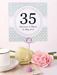cheap -Place Cards and Holders Personalized Square Table Number Card - Pure Elegance