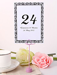 cheap -Personalized Table Number Card - Timeless