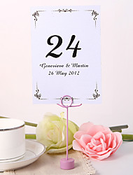 cheap -Personalized Table Number Card - Elegant