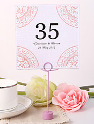 cheap -Personalized Square Table Number Card - Asian Style