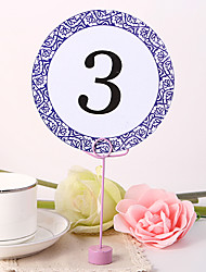 cheap -Round Table Number Card - Lilac Decorative Design