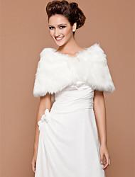 Недорогие -Свадебная/вечерняя шаль из искусственного меха