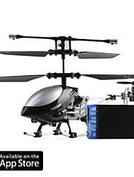 economico -3 canali i-elicottero 777-172 con giroscopio controllato da iPhone / iPad / iPod Touch nero (777-172B)