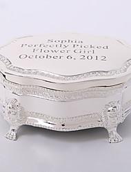 Недорогие -персонализированная позолоченная tutania тонкая коробка ювелирных изделий элегантный стиль
