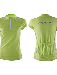 Jaggad Cycling Jersey Women's Short Sleeves Bike Jersey Tops Quick Dry Breathable Polyester Coolmax Solid Spring Summer Cycling/Bike