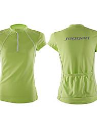 baratos -Jaggad Mulheres Manga Curta Camisa para Ciclismo - Azul / Rosa claro / Verde Claro Moto Camisa / Roupas Para Esporte, Secagem Rápida,