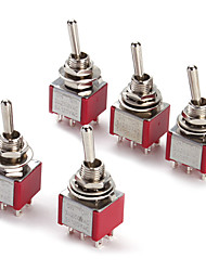 6P Toggle Switch for Electronics DIY (5 Pieces a Pack)