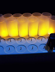 cheap -12 pc Warm Yellow  LED Rechargeable Flameless Tea Light Candles