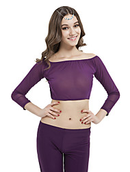 Belly Dance Tops Women's Training Spandex 1 Piece Long Sleeve Top
