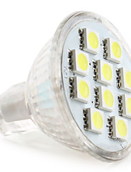 cheap -1W 50-80lm GU4(MR11) LED Spotlight MR11 10 LED Beads SMD 5050 Natural White 12V
