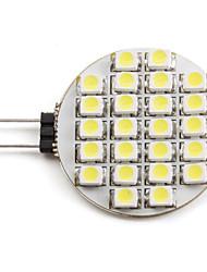 2W G4 Faretti LED 24 leds SMD 3528 Bianco 6000lm 6000KK DC 12V