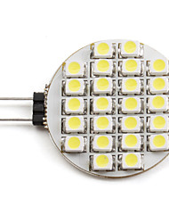2W G4 Faretti LED 24 SMD 3528 110 lm Bianco 6000K K DC 12 V