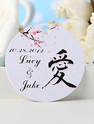 baratos -etiqueta de favor personalizada - amor (conjunto de 36) favores de casamento lindos