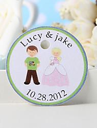 baratos -tag favor personalizado - menino e menina (conjunto de 36)