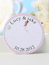 baratos -etiqueta de favor personalizada - birde (conjunto de 36) favores de casamento lindos