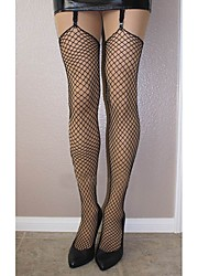 Women Sexy Mesh Thin Stockings , Lycra,Classic all black,Cool Feel