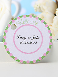 "cheap -Personalized Favor Tag - Green ""Welcome"" (Set of 36) Wedding Favors"