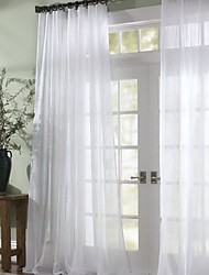 cheap -Sheer Curtains Shades Bedroom Solid Colored Polyester