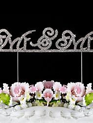 billiga -Mr & Mrs strass lysande cake topper