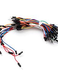 elettronica fai da te senza saldatura flessibili breadboard ponticelli fili del cavo 65pcs