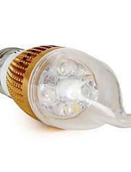 preiswerte -6000 lm E26 / E27 LED Kerzen-Glühbirnen CA35 4 LED-Perlen Natürliches Weiß