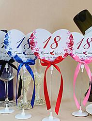 Недорогие -место карты и держатели цветок тема сердце стол форма номер карточки с держателями - набор из 10 (больше цветов)