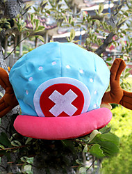 cheap -Hat/Cap Inspired by One Piece Tony Tony Chopper Anime Cosplay Accessories Cap / Hat Blue / Pink Velvet Male