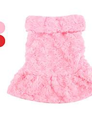 povoljno -Pas Kaputi Odjeća za psa Cvjetni / Botanički Crvena Pink Pamuk Kostim Za kućne ljubimce