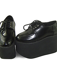 cheap -Lolita Shoes Sweet Lolita Lolita Platform Shoes Solid 11 CM Black For Women PU Leather/Polyurethane Leather