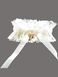 cheap -Lace Satin Classic Wedding Garter with Rhinestone Sweetheart Garters