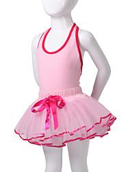 economico -Abbigliamento da ballo per bambini Tutù Abiti Per bambini Da esibizione Cotone Elastene Senza maniche