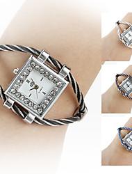 Femme Montre Tendance Montre Bracelet Bracelet de Montre Quartz Imitation de diamant Bande Dessin-Animé Noir Blanc Bleu Rouge Rose Violet