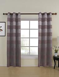 Dois Painéis Tratamento janela Regional , Estampado Sala de Estar Poliéster Material Cortinas cortinas Decoração para casa