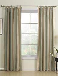 cheap -Curtains Drapes Bedroom Stripe 65% Rayon / 35%Polyester / Rayon Jacquard