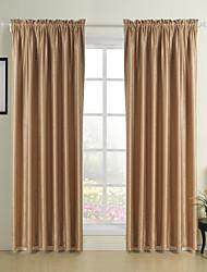Dvije zavjese Prozor Liječenje Moderna , Isklesan Living Room Polyester Materijal Početna Dekoracija