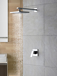 cheap -Shower Faucet - Rain Shower Chrome Shower Only Two Holes Single Handle Two Holes