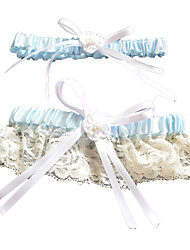 cheap -Polyester Lace Wedding Garter with Bowknot Wedding AccessoriesClassic Elegant Style