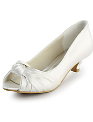 cheap -Satin Stiletto Heel Peep Toe Party / Evening Shoes (More Colors)