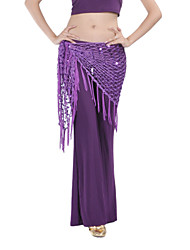 cheap -Belly Dance Hip Scarves Women's Training Chinlon Tassel(s) 1 Piece Hip Scarf
